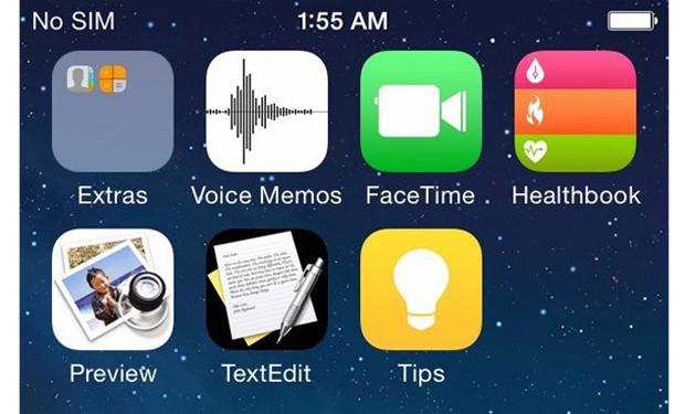 Las capturas de pantalla incluyen cuatro nuevas aplicaciones: Preview, Tips, TextEdit y Healthbook, que sería un complemento para el reloj inteligente iWatch.