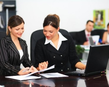 Young business people are working in office