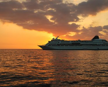 sunset cruise ship